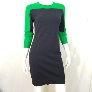 Michael Kors vibrant green black colorblock dress